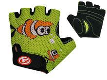 AUTHOR Rukavice Junior Fish vel. S (zelená/černá)