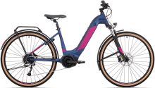 elektrokolo ROCK MACHINE CrossRide INT e500 Bosch lady touring mat dark blue/pink 2021