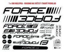 Nálepky FORCE 4 MTB na rám, 37x27cm, UV lak