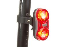 AUTHOR Světlo zad. A-Duplex X6  0,5W 2x   (černá/červené-sklo)