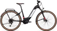 elektrokolo ROCK MACHINE CrossRide INT e400 Bosch touring gloss black/silver/red 2021